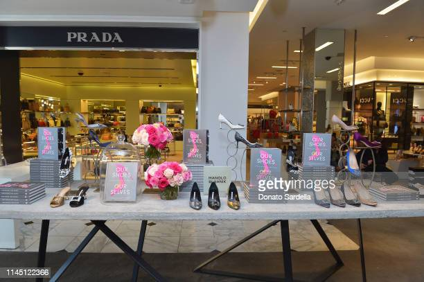 Interior view of Saks Beverly Hills Celebrates Our Shoes Our Selves Book Launch with Bridget Moynahan and Amanda Benchley on April 25 2019 in Beverly...