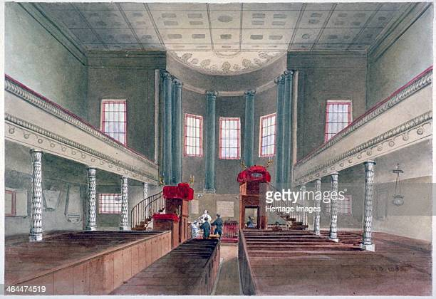 Interior view of St Pancras New Church London 1855