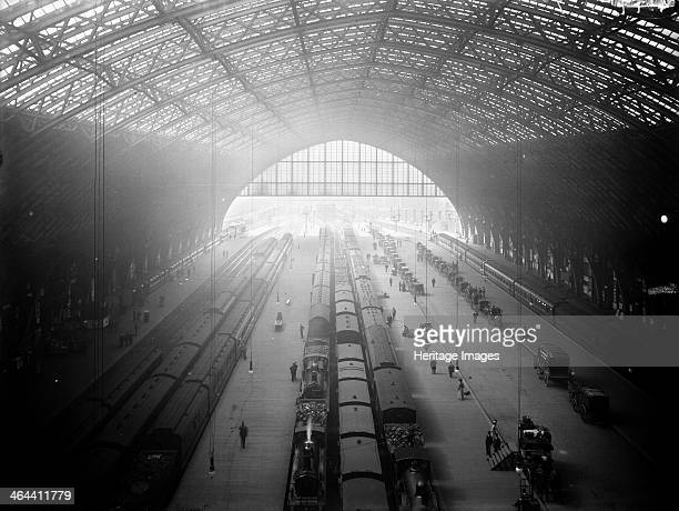 Interior view of St Pancras Station Camden London c1895 The station was designed in 1868 by Sir George Gilbert Scott and the civil engineer was...
