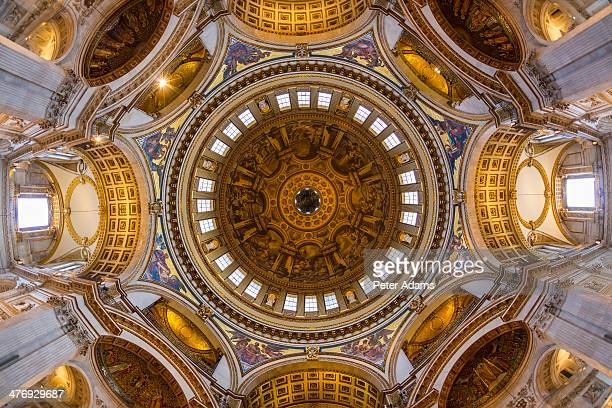 Interior view of St Pauls Cathedral Dome, London