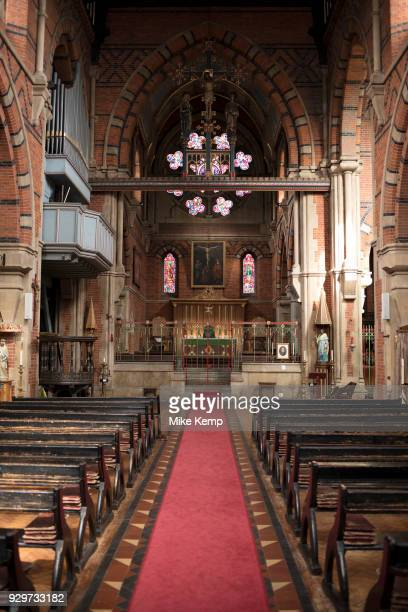 Interior view of St Peter's Church in Wapping London England United Kingdom St Peter's Wapping is a Grade I listed Anglican church in Wapping Lane It...