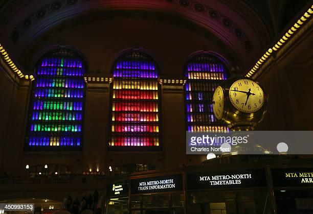Interior view of the 2013 Holiday Light Show at Grand Central Terminal on November 20, 2013 in New York City.