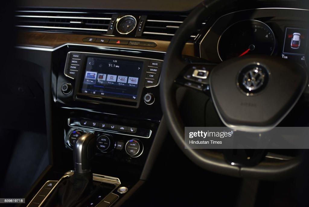 2017 volkswagen passat interior. interior view of the all-new vw passat during its launch on october 10, 2017 volkswagen