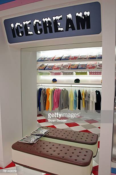 Interior view of the Billionaire Boys Club / Ice Cream flagship store opening on November 28, 2007 in New York City.