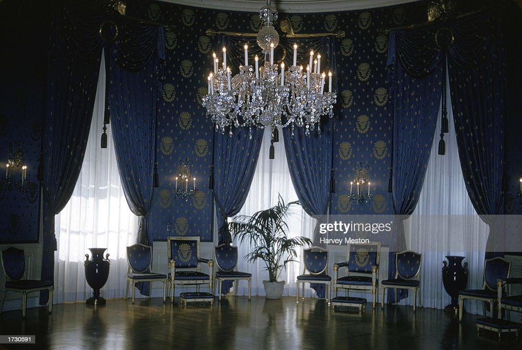 Interior View Of The Blue Room At The White House, Washington, D.C., 1970s