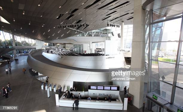 Interior view of the BMW World seen prior to the opening ceremony on October 17 2007 in Munich Germany BMW World is a representative architecturally...