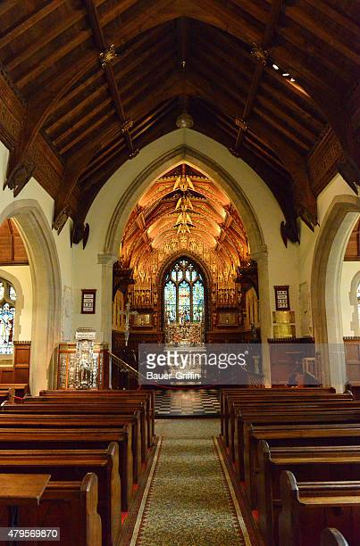 Interior view of the Church of St Magdalene on the Queen's Sandringham Estate on July 05 2015 in London United Kingdom