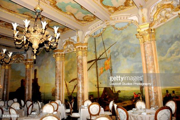 Interior view of the dining room of the MaraLago estate Palm Beach Florida February 13 2017