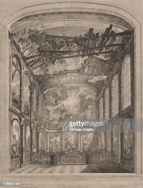 Interior view of the Enfants Trouv�s, 1759. Artist Etienne Fessard.