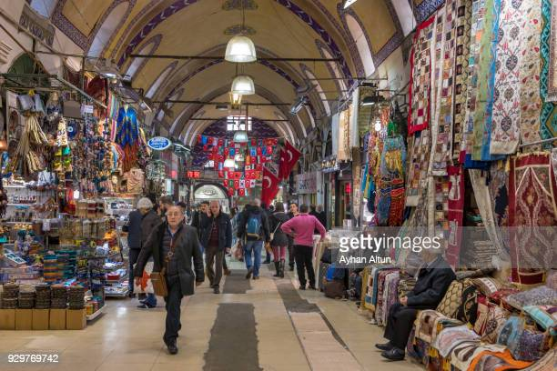 Interior view of The Grand Bazaar, Fatih District of Istanbul,Turkey
