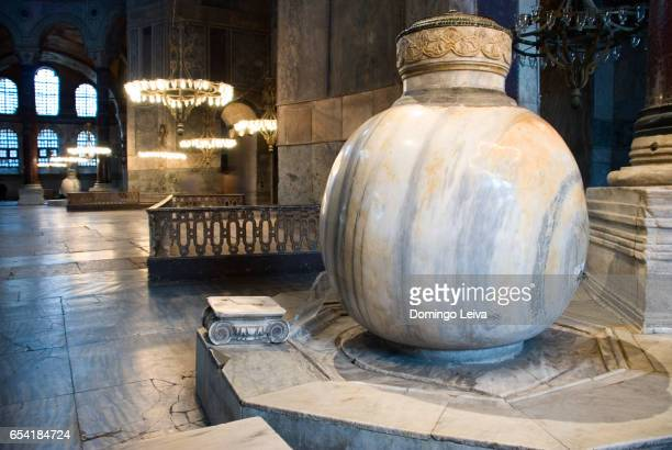 interior view of the hagia sophia in istanbul - arte stock pictures, royalty-free photos & images