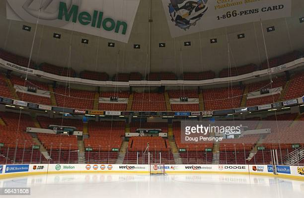 Interior view of the Mellon Arena home of the Pittsburgh Penguins taken on February 6 2003 in PittsburghPennsylvania