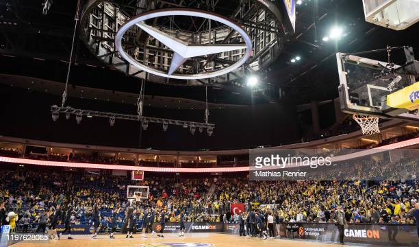 Interior view of the Mercedes-Benz Arena before the EuroLeague match between Alba Berlin and Fenerbahce Istanbul at Mercedes-Benz Arena on January...