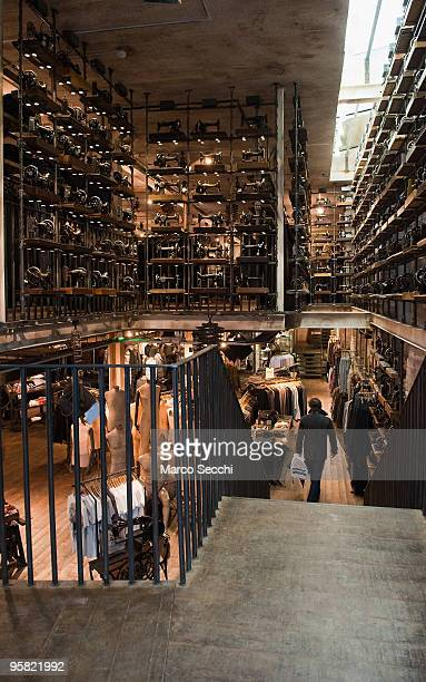 Interior view of the new 15000 sq ft AllSaints store on two floors in Portobello Road on January 16 2010 in London England Portobello traders fear...