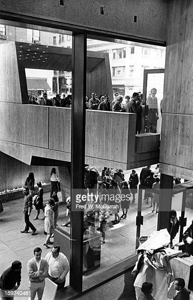 Interior view of the new building of Whitney Museum of American Art New York New York September 27 1966 The building had opened the day before