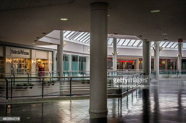 A interior view of the once prosperous Landmark shopping mall still open but with few stores and slated for redevelopment on January 2015 in...