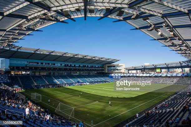 Interior view of the pitch prior to the match between Sporting Kansas City and Los Angeles FC played on Sunday October 28 2018 at Children's Mercy...
