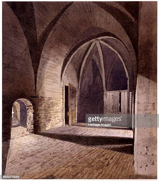 Interior view of the prison in the Bell Tower Tower of London Tower Hamlets London 1883