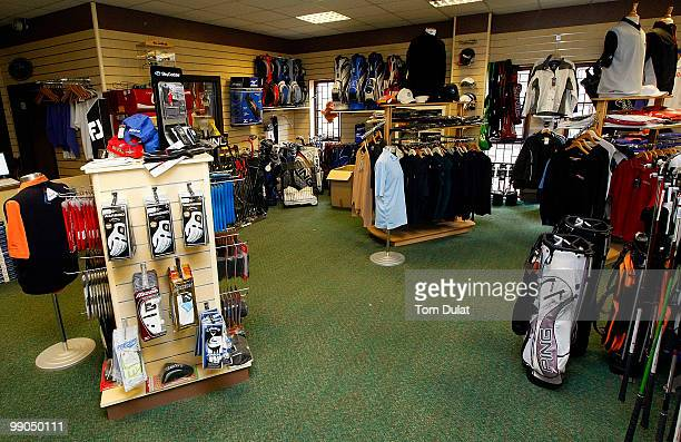 Interior view of the pro shop during the Virgin Atlantic PGA National ProAm Championship Regional Qualifier at King's Lynn Golf Club on May 12 2010...