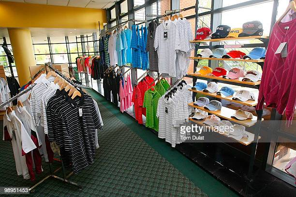 Interior view of the pro shop of Five Lakes Golf and Country Club is pictured during the Business Fort plc English PGA Championship Regional...