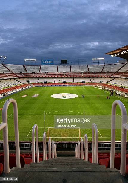 Interior view of the Ramon Sanchez-Pizjuan stadium prior to the start of the UEFA Cup group stage match between Sevilla and Vfb Stuttgart at the...