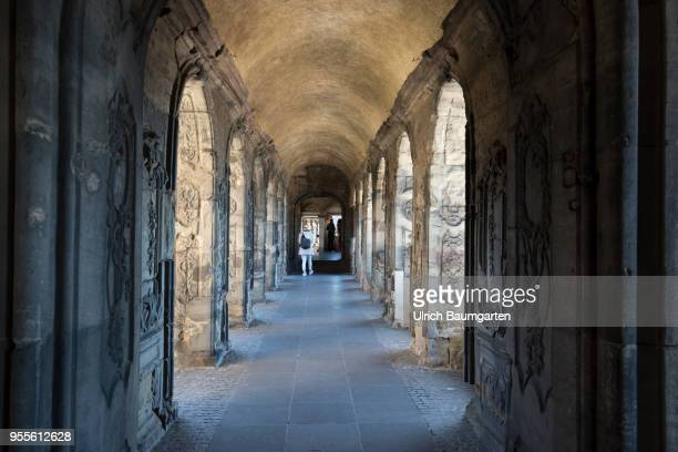 Interior view of the Roman city gate Porta Nigra landmark of Trier and built from 170 AD