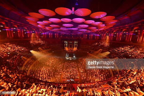 Interior view of the Royal Albert Hall in London while American blues rock musician Joe Bonamassa performs live on stage, on March 30, 2013.
