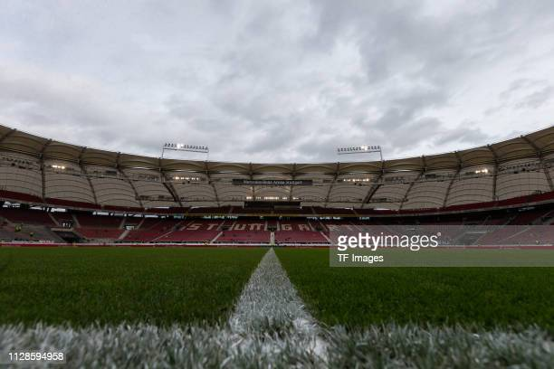 Interior view of the stadium during the Bundesliga match between VfB Stuttgart and Hannover 96 at MercedesBenz Arena on March 3 2019 in Stuttgart...