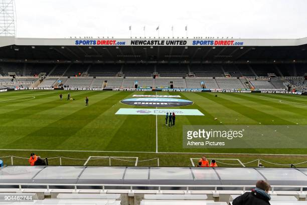 Interior view of the stadium during the Premier League match between Newcastle United and Swansea City at St James' Park on January 13 2018 in...