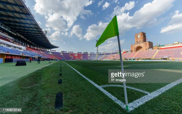 Interior view of the stadium prior to the 2019 UEFA U-21 Group A match between Italy and Poland at Renato Dall'Ara Stadium on June 19, 2019 in...