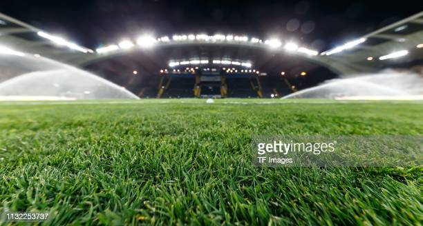 Interior view of the stadium prior to the 2020 UEFA European Championships group J qualifying match between Italy and Finland at Stadio Friuli on...