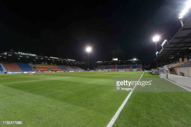 Interior view of the stadium prior to the 2020 UEFA European Championships group J qualifying match between Liechtenstein and Greece at Rheinpark...