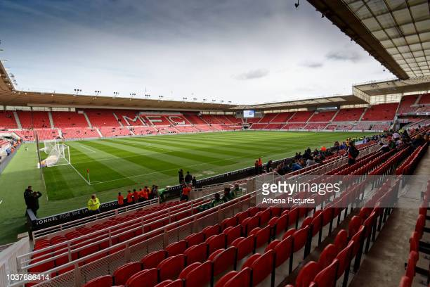 Interior view of the stadium prior to the Sky Bet Championship match between Middlesbrough and Swansea City at the Riverside Stadium on September 22,...