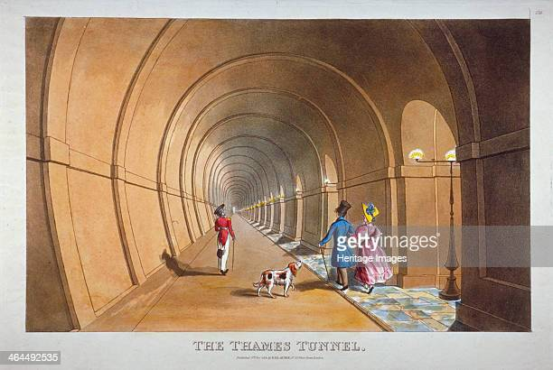 Interior view of the Thames Tunnel London 1830 The Thames Tunnel connecting Wapping and Rotherhithe was the first underwater tunnel in the world...