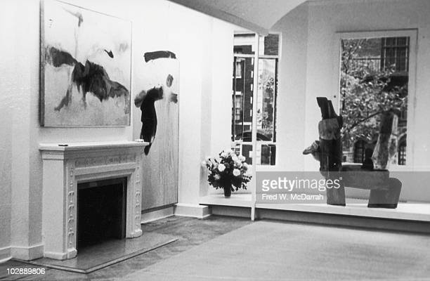 Interior view of the Tibor de Nagy Gallery New York New York October 11 1960