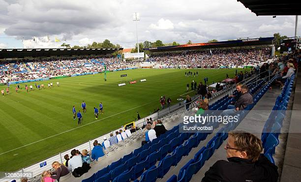 A interior view of the TREFOR Park Stadium during the Superliga match between Odense BK and Brondby IF at the TREFOR Park on August 72011 in...