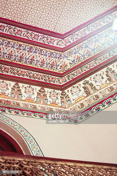 Interior view of the walls of Darbar Mahal