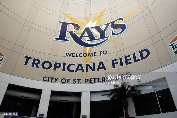 Interior view of Tropicana Field prior to the game between the Seattle Mariners and the Tampa Bay Rays on April 8 2008 at Tropicana Field in St...