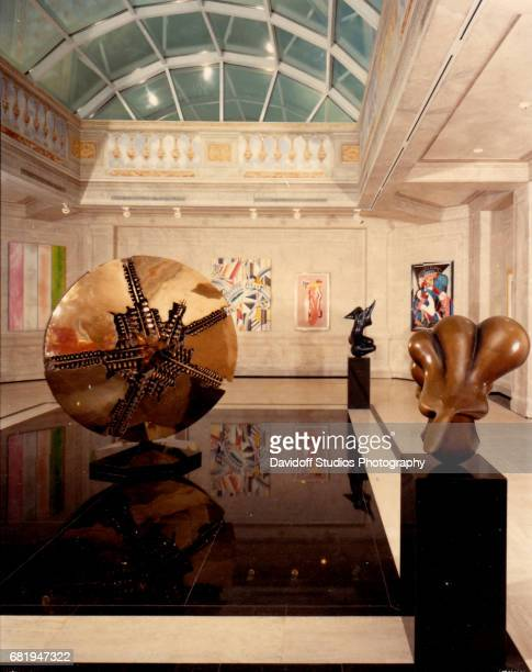 Interior view of various sculptures and paintings in a room at the Maison de l'Amitie mansion Palm Beach Florida January 30 1990 The mansion was...