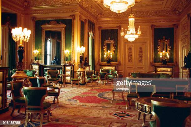 Interior view of Windsor Castle showing restoration after it was damaged by fire in 1992, 17th November 1997.