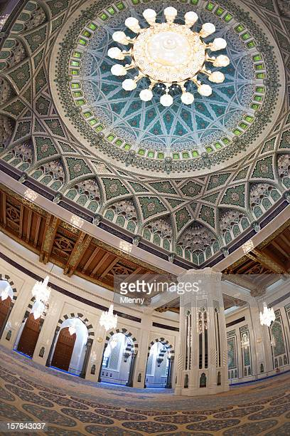 interior view praying hall grand mosque - grand mosque stock pictures, royalty-free photos & images