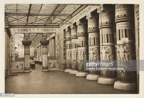 Interior View Showing Replica Ancient Egyptian Pillars