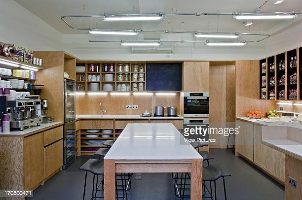 Interior view with centered Corian capped plywood table Konditor Cook Allsop Gollings Architects London United Kingdom Interior view with centered...