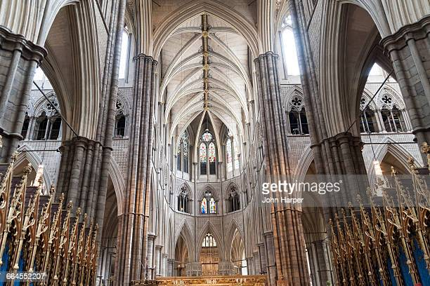 interior westminster abbey, london - westminster abbey stock pictures, royalty-free photos & images