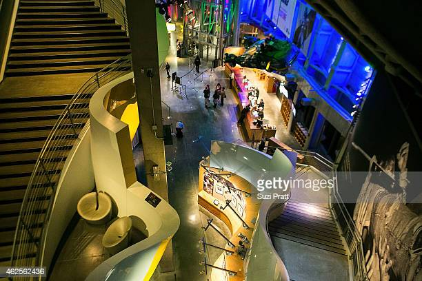 """Interiors at """"Star Wars"""" and the Power of Costume opening exhibit at EMP Museum at Seattle Center on January 30, 2015 in Seattle, Washington."""