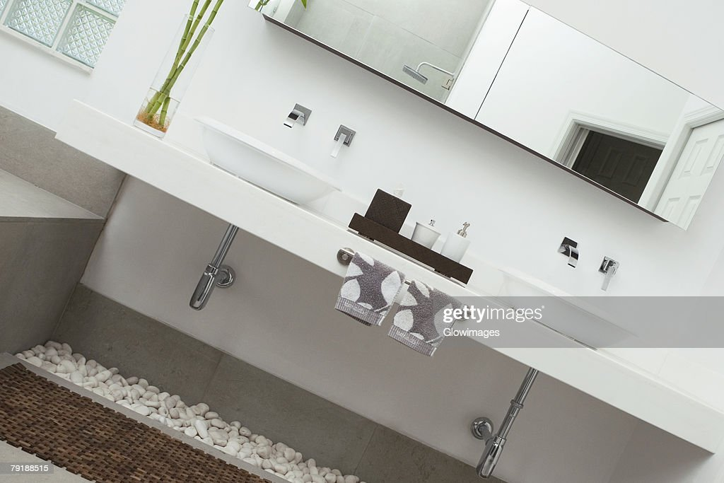 Interiors of a bathroom : Foto de stock