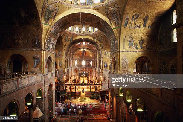Interiors of a cathedral, St. Mark's Cathedral, Venice, Veneto, Italy