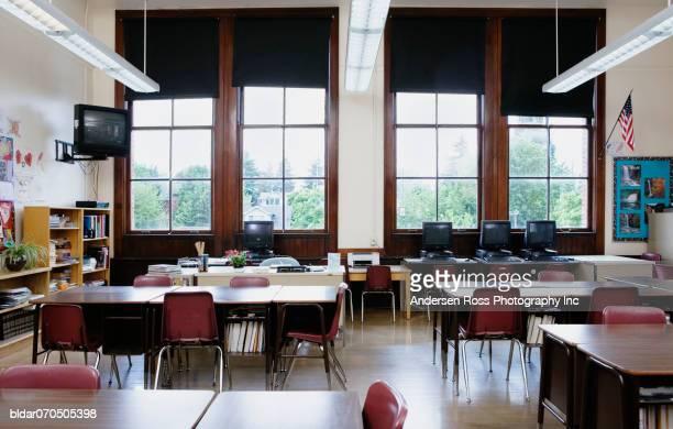 Interiors of a classroom