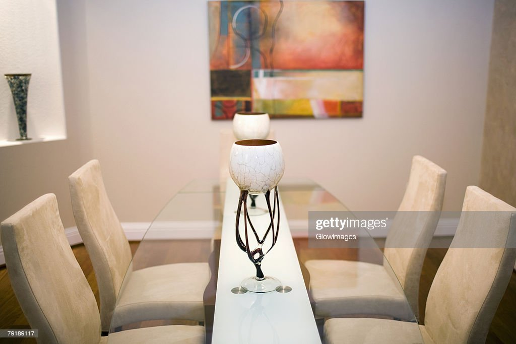 Interiors of a dining room : Foto de stock