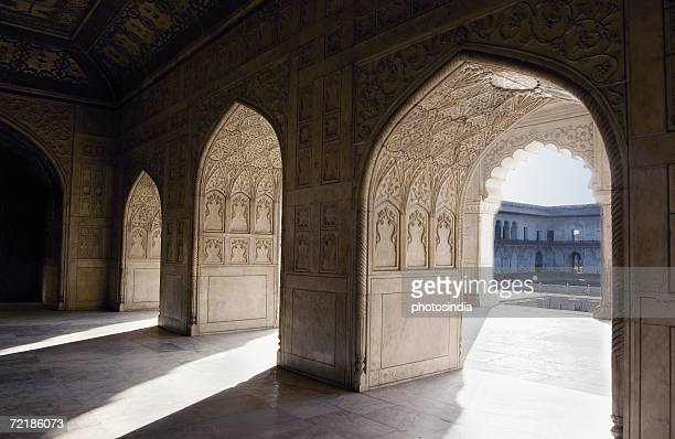 Interiors of a fort, Khas Mahal, Agra Fort, Agra, Uttar Pradesh, India